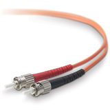 ST / ST Multimode 62.5/125 µm Duplex Fibre Patch Cable 1m Length P-F2F20200