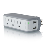 Mini Surge Protector with USB Charger P-BZ103050-TVL