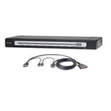 OmniView® PRO3 16-Port USB & PS/2 KVM Switch & USB Cable Bundle P-F1DA116Z-BU