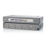 OmniView® Secure DVI-D Dual-Link 4-Port KVM-Switch P-F1DN104D