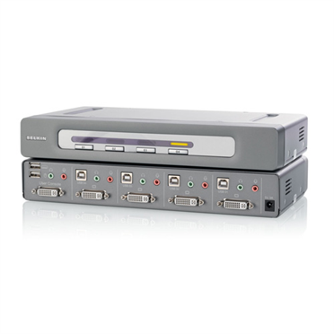 OmniView® Secure DVI-D Dual-Link 4-Port KVM-Switch -$ HeroImage