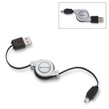 4-Pin Mini-B Retractable USB Cable P-F3U139-RTC