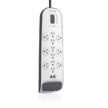 12-outlet Surge Protector with 8 ft Power Cord with Cable/Satellite Protection -$ HeroImage