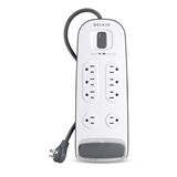 8-outlet Surge Protector with 6 ft Power Cord with Telephone Protection P-BV108200-06