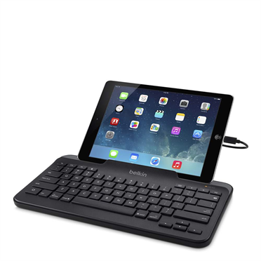 Wired Tablet Keyboard w/ Stand for iPad (Lightning Connector) -$ HeroImage