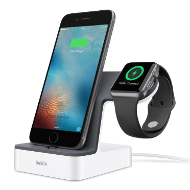 Base de carga PowerHouse™ para Apple Watch + iPhone -$ HeroImage