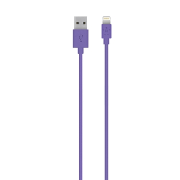 3 USB SYNC DATA POWER CHARGER CABLE DOCK CONNECTOR APPLE IPAD IPHONE IPOD PURPLE