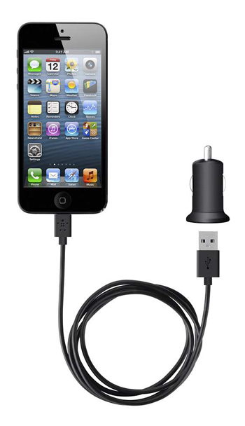 Car Charger + Lightning ChargeSync Cable for iPhone 5