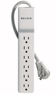 6-Outlet Surge Protector with 8-foot Power Cord with Rotating Plug