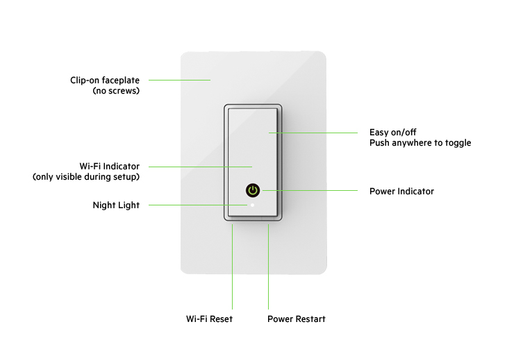 Wemo® Wi-Fi Smart Light Switch