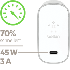 belkin 45 watt usb c netzladeger t mit kabel. Black Bedroom Furniture Sets. Home Design Ideas