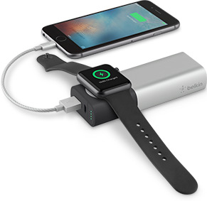 Dual Charging for Apple Watch and iPhone with Belkin 6700 mAh Power Bank