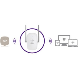 Belkin N600 Dual-Band Wi-Fi Range Extender - Compatible with Wireless G and Wireless N