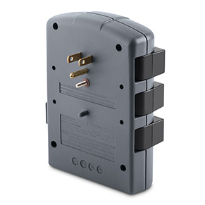 Belkin 6-outlet Pivot-Plug Surge Protector - Back of Product Image