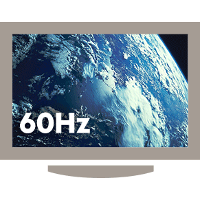 60Hz adapter offers a smooth-moving, seamless image that is free of motion blur
