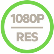 Supports resolutions up to 1080p icon