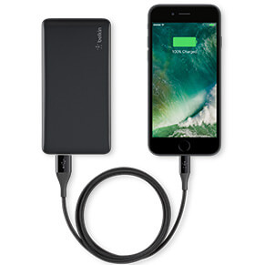 Black iPhone Charging