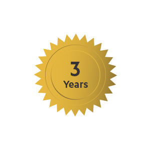 UP TO THREE YEARS OF PROTECTION