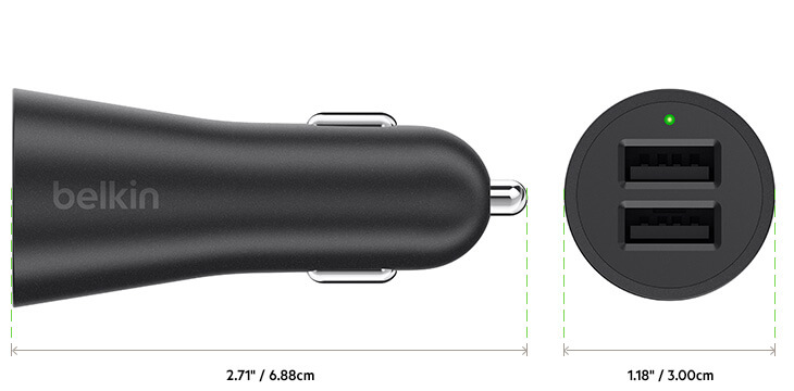 Belkin Boost Up Car Charger diagram