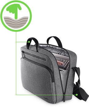 Padded back panel keeps items in the bag from pressing uncomfortably against your back.