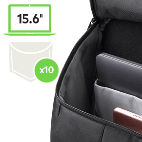 Essentials are quickly accessible from multiple front pockets.