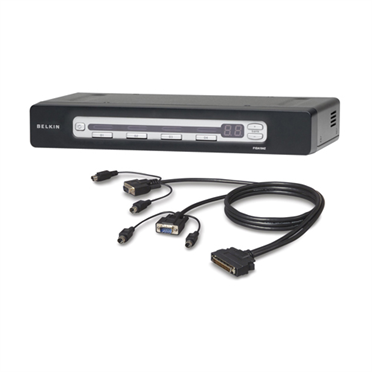 PRO3 4-Port KVM Switch PS/2 & USB In/Out Bundled with PS/2 Cables -$ HeroImage