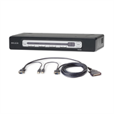 PRO3 4-Port KVM Switch PS/2 & USB In/Out Bundled with USB Cables -$ HeroImage