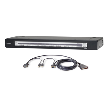 PRO3 16-Port KVM Switch PS/2 & USB In/Out Bundled with USB Cables -$ HeroImage