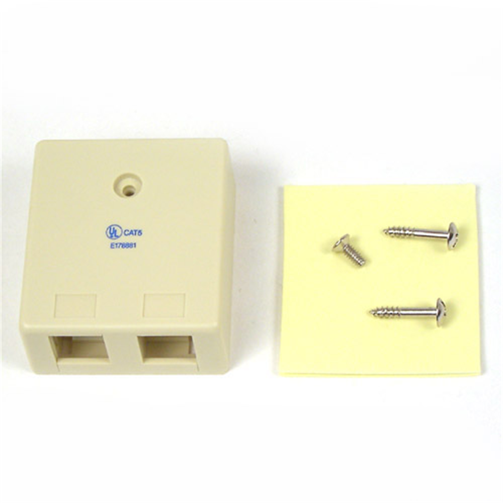 Ivory 2-Position Surface Mounting Box - HeroImage