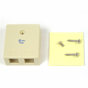 Ivory 2-Position Surface Mounting Box -$ HeroImage