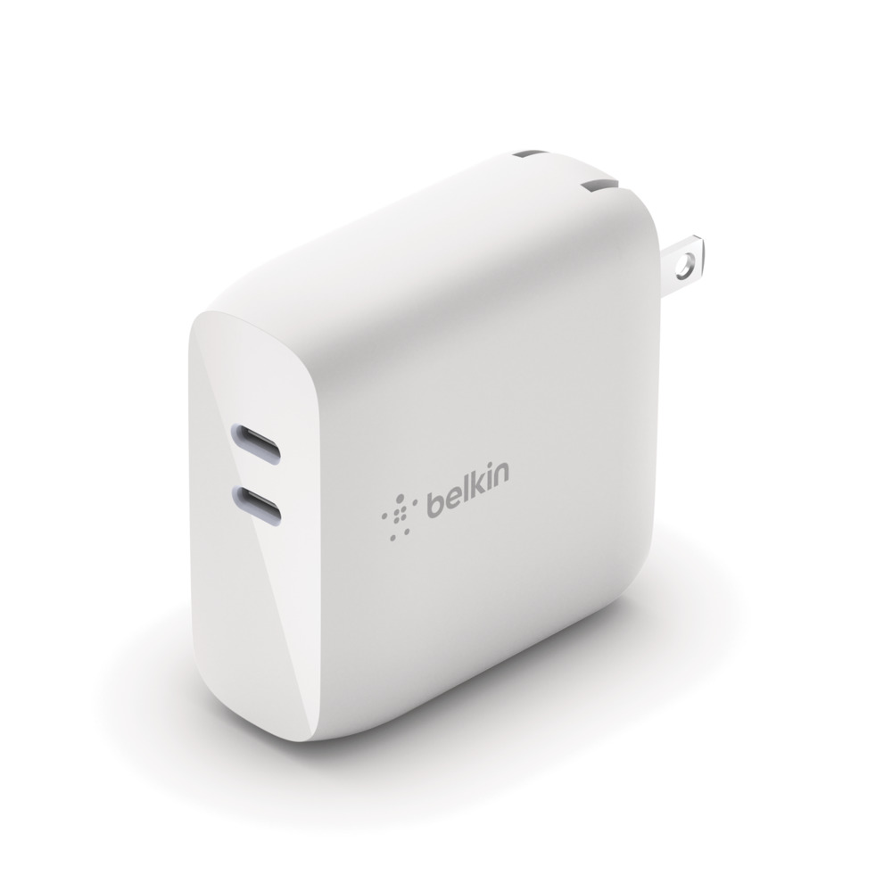 BOOST↑CHARGE™ Dual USB-C PD GaN Wall Charger 68W - HeroImage