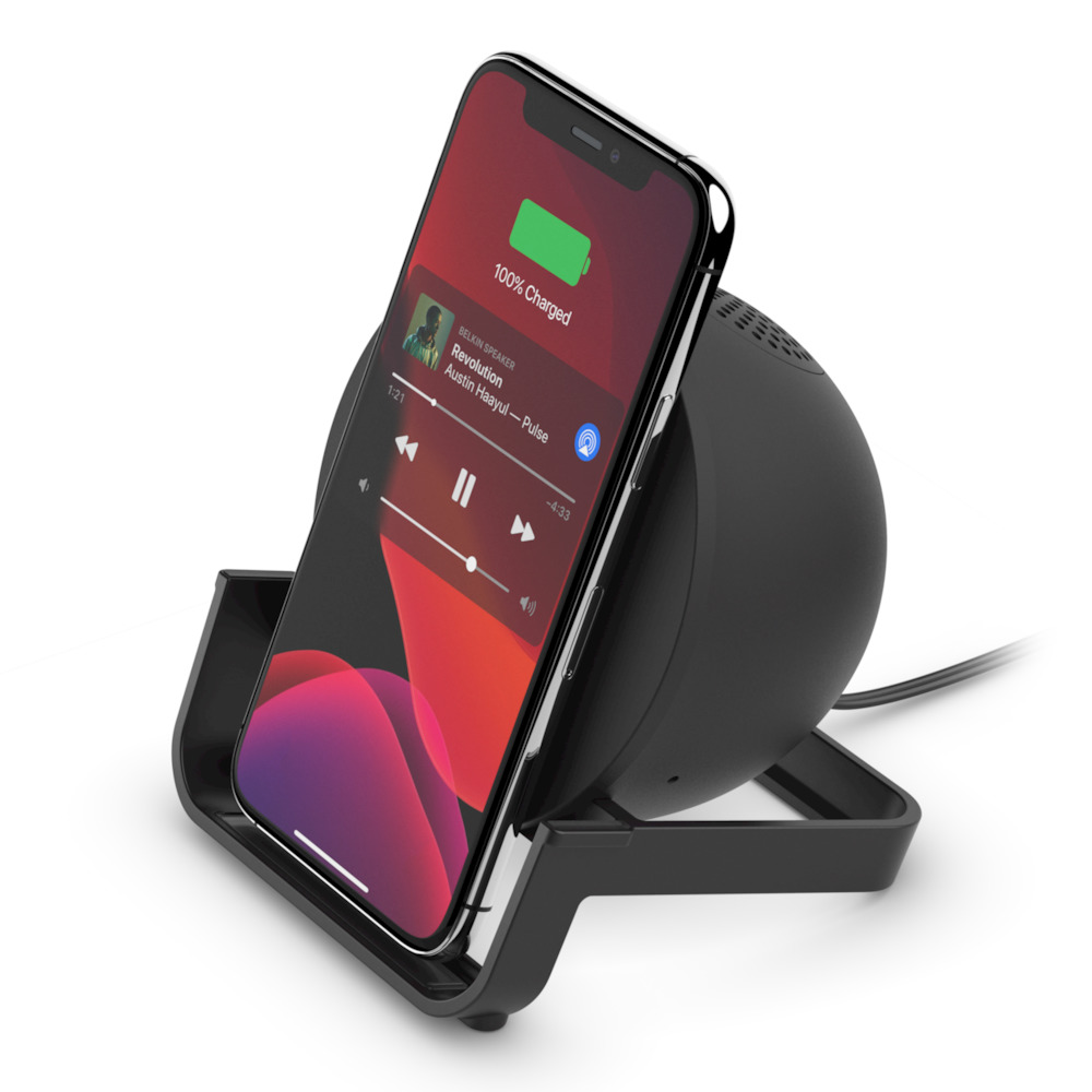 Wireless Charging Stand Bluetooth Speaker Belkin