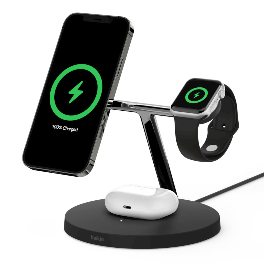 3-in-1 Wireless Charger with MagSafe  - HeroImage