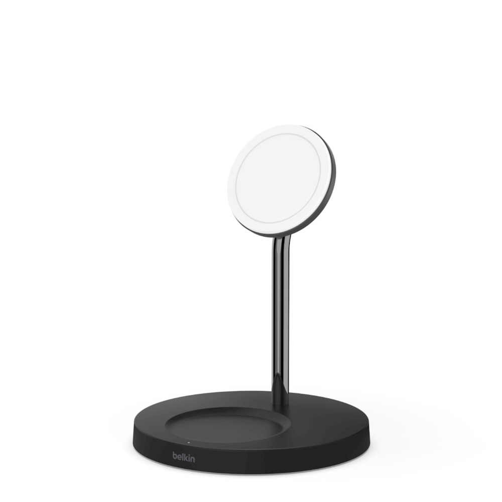 BOOST↑<b>CHARGE</b>™ PRO 2-in-1 Wireless Charger Stand with MagSafe 15W - SideView1Image