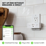 Wemo Mini Smart Plug Bundle 3-Pack -$ SideView1Image