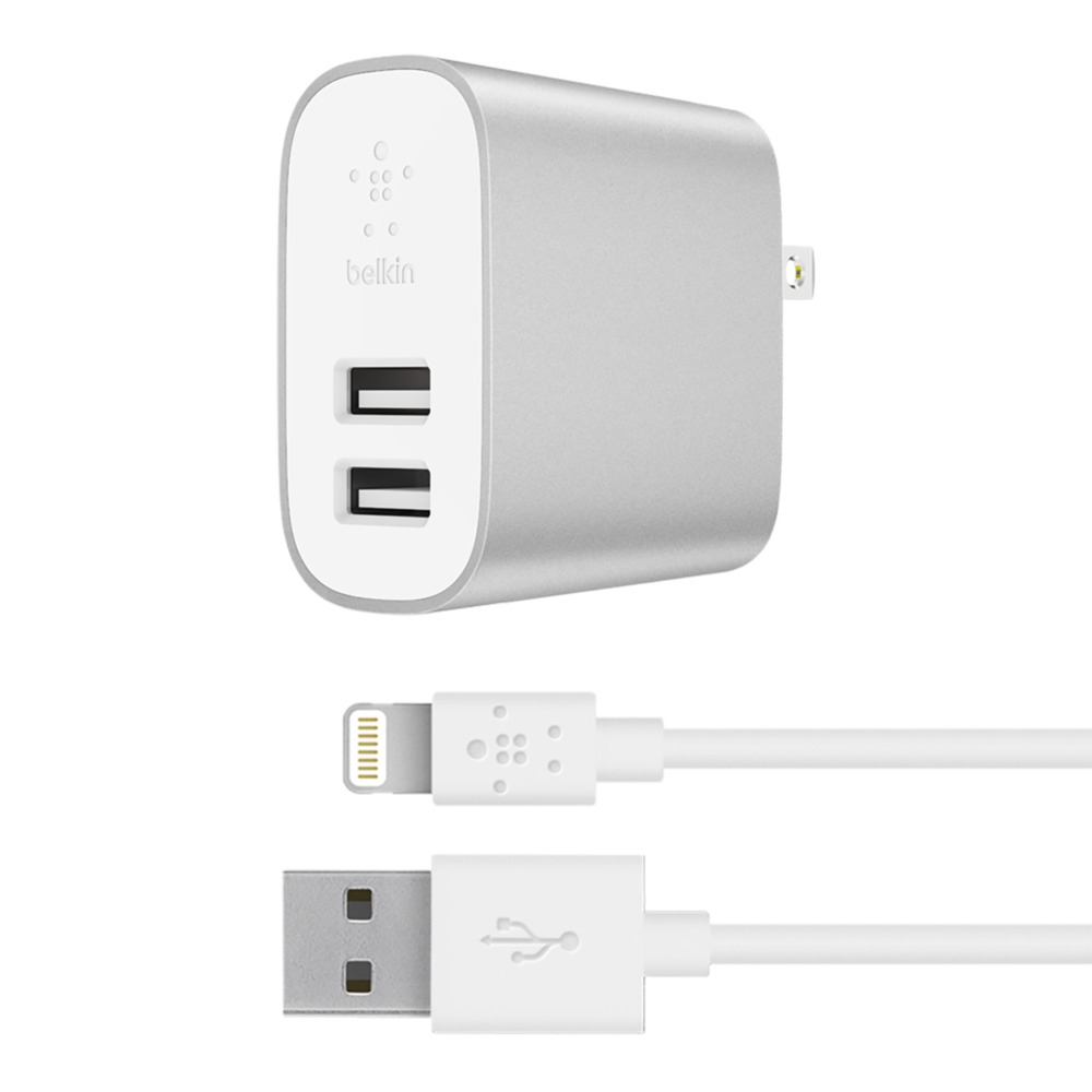 BOOST↑CHARGE™ 24W Dual USB-A Wall Charger + Lightning to USB-A Cable - HeroImage