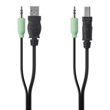 TAA USB/AUD SKVM CBL, USB A/B, 3.5mm AUDIO -$ HeroImage