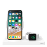 BOOST↑UP™ Wireless Charging Dock: Wireless Charging Pad + Apple Watch Dock (Certified Refurbished) -$ SideView1Image