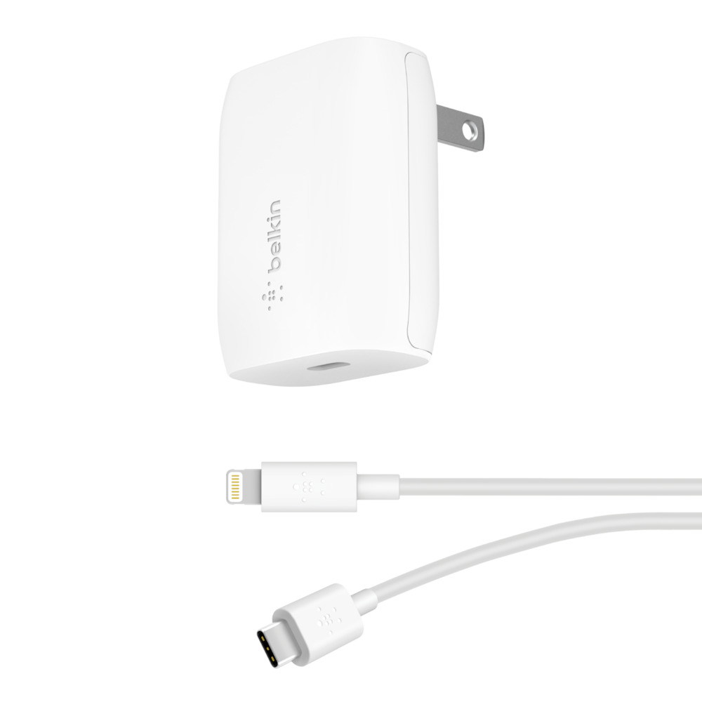 BOOST↑<b>CHARGE</b>™ 18W USB-C PD Wall Charger + USB-C to Lightning Cable - HeroImage
