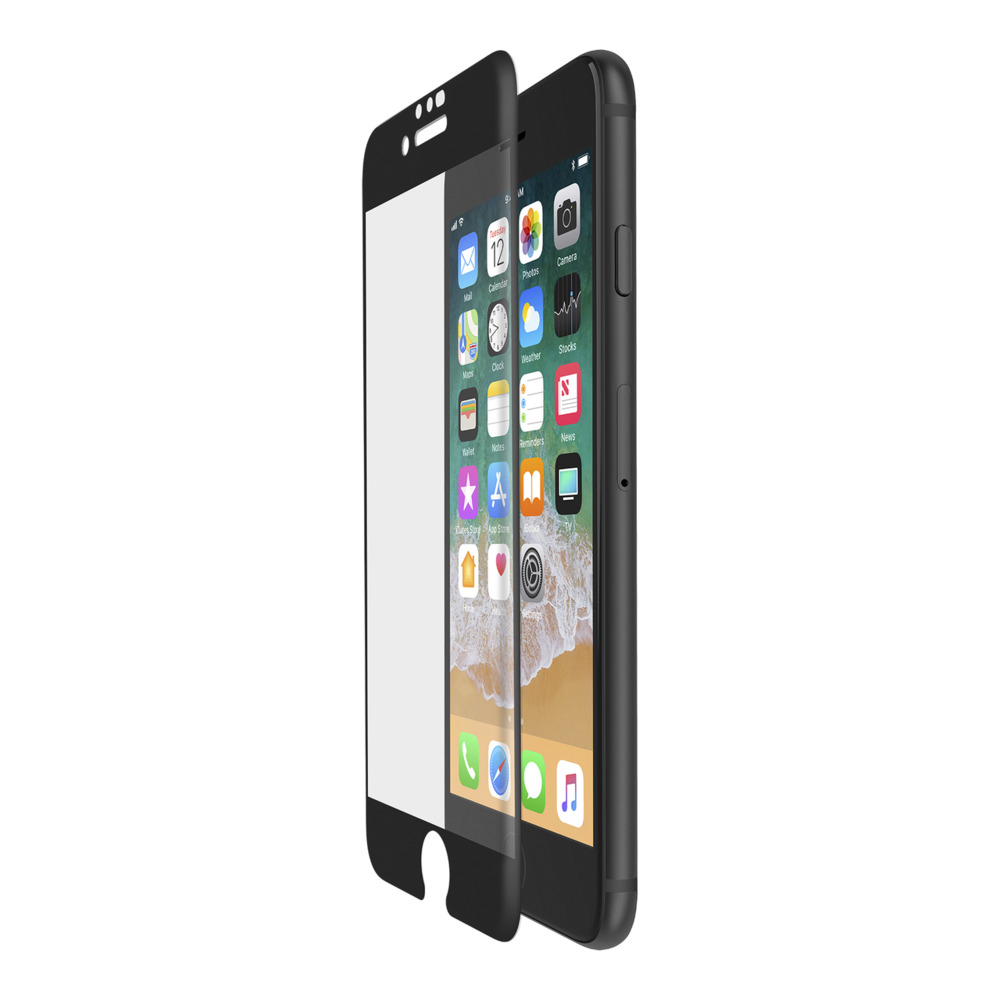 SCREENFORCE™ TemperedCurve Screen Protection for iPhone 8/7/6s/6 (black) - HeroImage