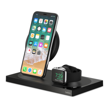 BOOST↑UP™ Special Edition Wireless Charging Dock for iPhone + Apple Watch + USB-A port -$ HeroImage