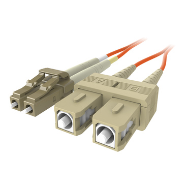 Fiber Optic Cable; Orange Multimode LC/SC Duplex, 50/125 OM2 -$ HeroImage