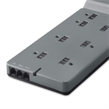 8-Outlet Home/Office Surge Protector with telephone protection, 6 ft. Cord -$ TopViewImage