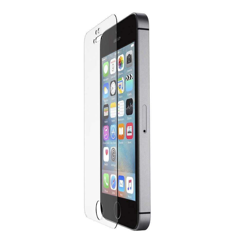new product 32641 8dbb6 ScreenForce® Tempered Glass Screen Protector for iPhone 5/5s/5c and iPhone  SE