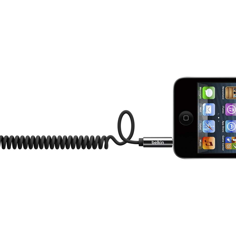 MIXIT↑™ Coiled 3.5mm Aux Cable - FrontViewImage