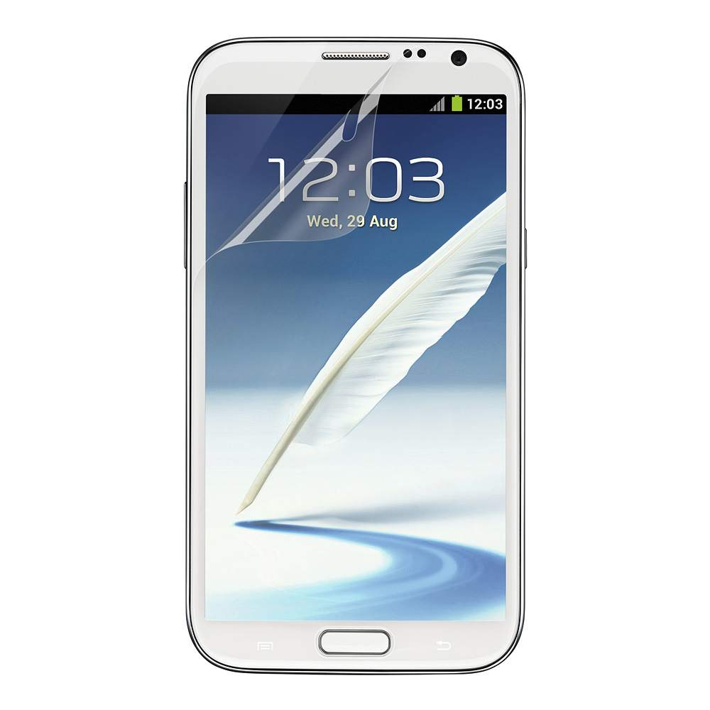 TrueClear Transparent Screen Protector for Samsung Galaxy Note II - HeroImage