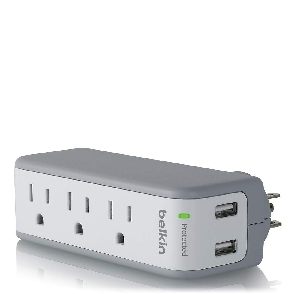 Belkin 4 Way Outlet Surge Protector Power Board USB Charging Charger for iPhone