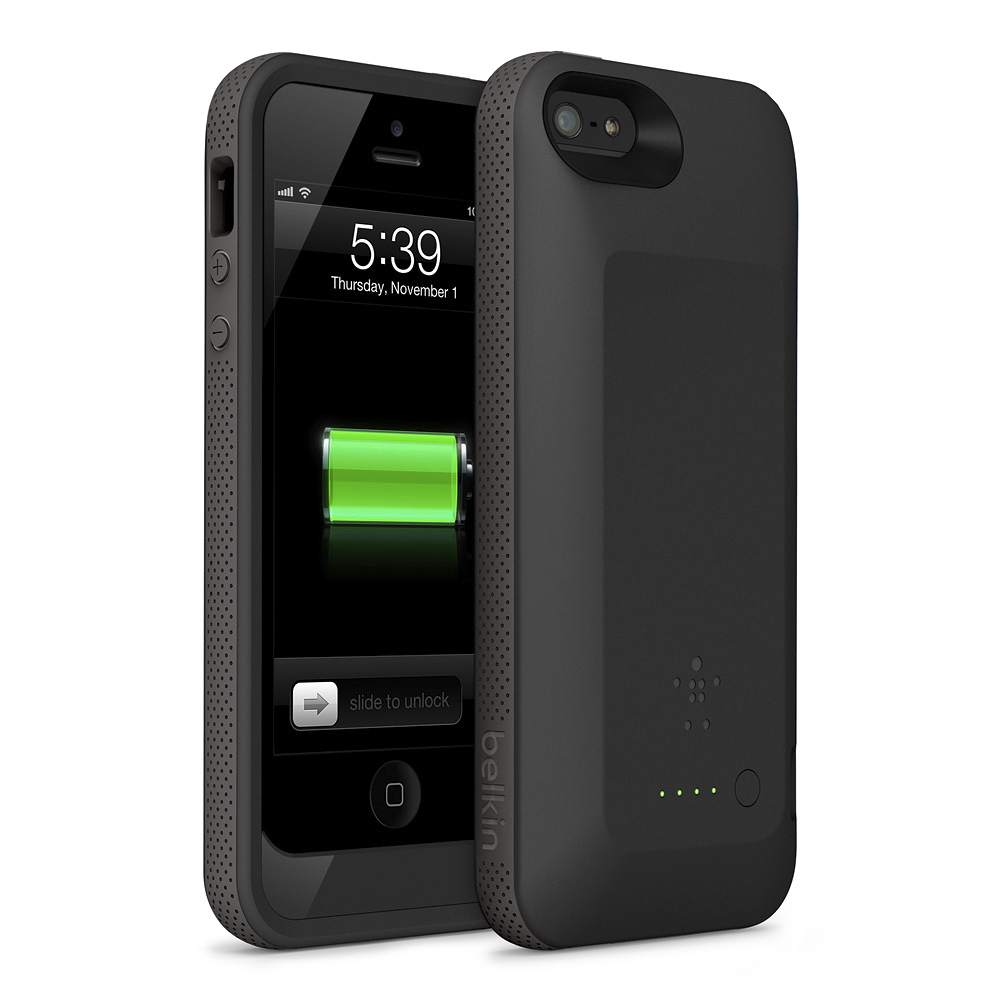online store dd83b adb08 Belkin Grip Power Battery Case for iPhone 5 and iPhone 5s - 2X ...