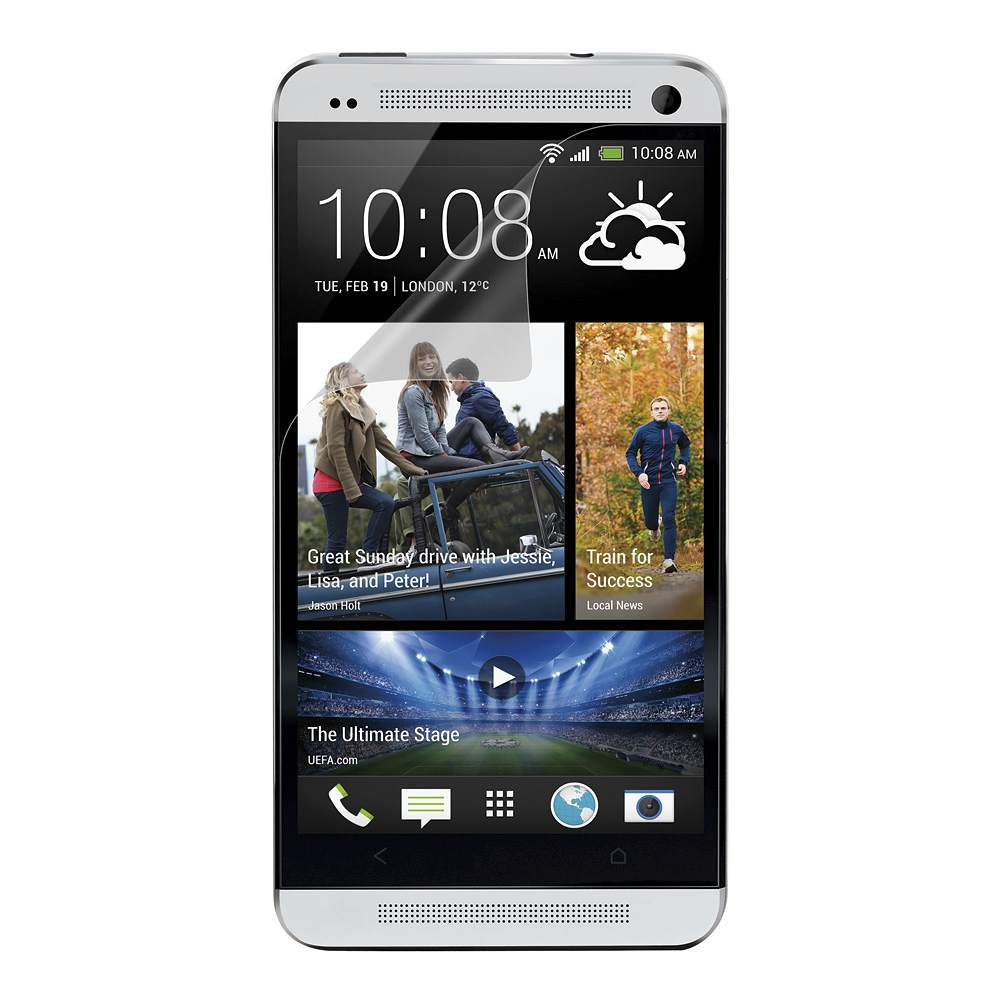 TrueClear Anti-Smudge Screen Protector for HTC One - HeroImage