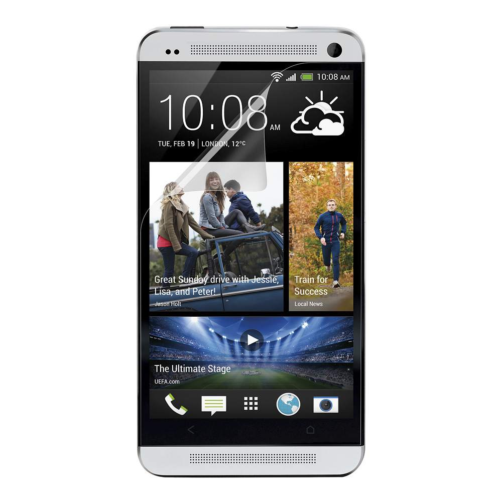 TrueClear Transparent Screen Protector for HTC One - HeroImage
